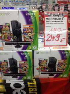 Xbox 360 Slim 4 GB + Carnival Games + Kinecht Adventures lokal 73230