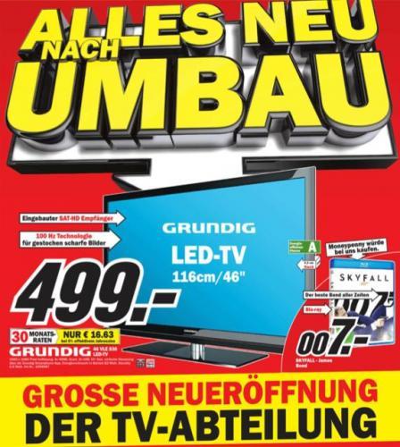 (LOKAL) Skyfall Blu-ray für 7.- und gute TV-Angebote im Media Markt Weilheim i. OB