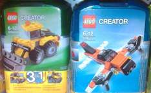 LEGO CREATOR MINI Bagger / Flugzeug @ Kaufland [EHI]