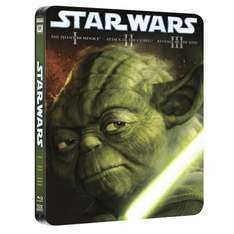 Star Wars Trilogie 1-3 Blu Ray Steelbook bei Amazon.es mit Deutscher Tonspur