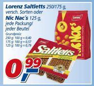 Lorenz Nic Nac's 125g für 0,99€ @ Real