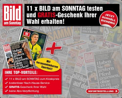 11x Bild am Sonntag für effektiv 3,70€