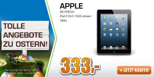 APPLE iPad 2 Wi-Fi 16GB schwarz @Saturn.de