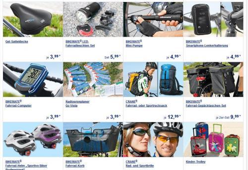 [ALDI SÜD] Fahrrad Kleidung und Fahrradzubehör ... z.B. Radlerjacke 17,99€, Radlershorts  12,99€, Fahrrad-Helm 9,99€... ...