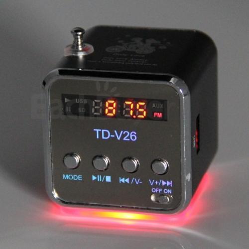 Mini Lautsprecher mit FM Radio für MP3/4, iPods, iPhones, Handys usw für 8,22€ inkl. VSK