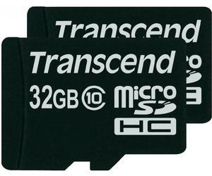 MicroSDHC Karten-Doppelpack 32GB, Class 10