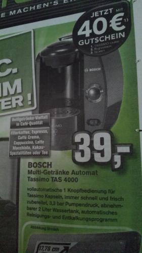 Bosch Tassimo T40 für nur 39 Euro @Alphatecc Forchheim