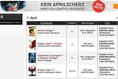 [Origin] 1. April - Sale: Mirror's Edge, Dragon Age 2 und Origins, C&C4 TT alle für 3,99 €