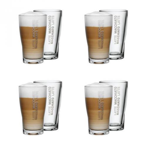 WMF Latte Macchiato Glas 8er-Set BARISTA bei telbay zu 25 Euro inkl. Versand