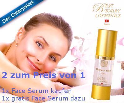 Das Oster-Paket: Hyaluron Face Serum - 2 zum Preis von 1