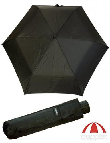 Zwei Doppler Regenschirme - einer möglichst groß und einer möglichst klein, stabil, leicht und schwarz