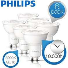 Philips LED LAMPEN GU10 6 Stück iBOOD