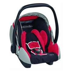 Storchenmühle Twin 0+, Autokindersitz / Babyschale , active-red, bis 13 kg (ca. 15 Monate) @ Amazon