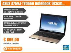 "ASUS A75VJ-TY055H Notebook (43cm (17,3""); 6GB RAM; 500GB HDD; Windows 8) - ganze 100 Euro billiger - boa der Bär"