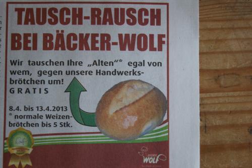 *LOKAL GOSLAR* Tauschrausch bei Bäcker Wolf - Jetzt bis zu 5 alte Weizenbrötchen gegen neue eintauschen! GRATIS