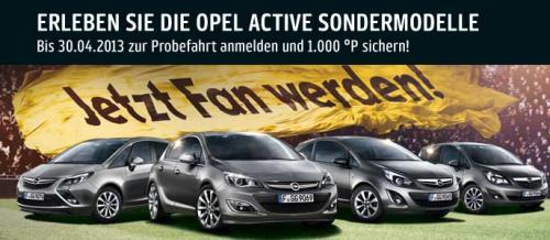 Wieder da: 1000 Payback Punkte für Opel-Probefahrt