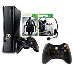 Xbox 360 250GB + 2 Controller + Darksiders 2 + Batman Arkham City +  Crysis 3 + Battlefield 3 für 238,16 (@ Amazon)
