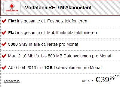 [handytick.de] Vodafone Red M für alle + Top-Geräte für 0€ [Aktion bis 05.04]