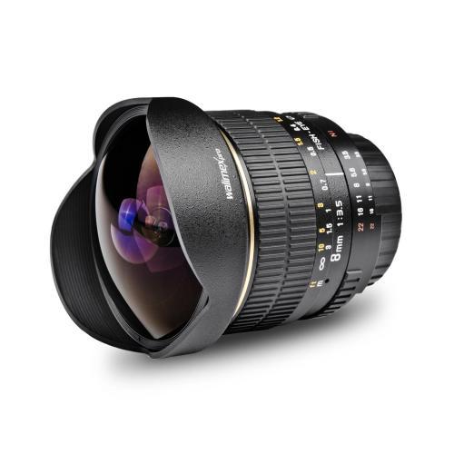 Walimex Pro Fish-Eye 8 mm Objektive 15% Rabatt 50€ sparen.