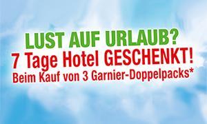 7 Tage Hotel geschenkt beim Kauf von 3 Garnier-Doppelpacks