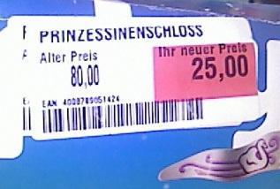 Sammelthread: Spielwaren im Globus Ludwigshafen u.a. Großes Playmobil-Schloß 5142 für 25€ (!)