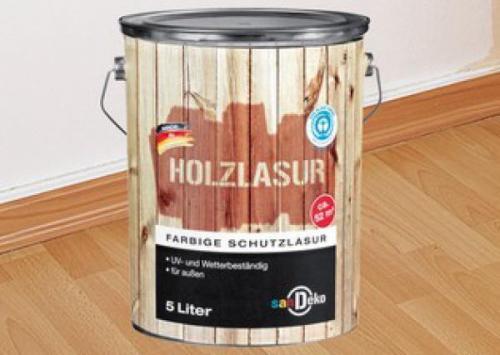 Palisander Holzlasur - 5 Ltr. - von san DEKO für nur 9,99 EUR + 4,90 EUR Versand [Dosen teilweise eingedrückt]