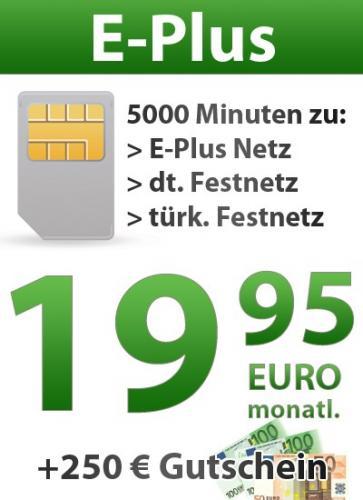Gutschein-Aktion 250,- € mit Ayyildiz Sohbet 5000 Flat eff. Monatlich 9,53 €