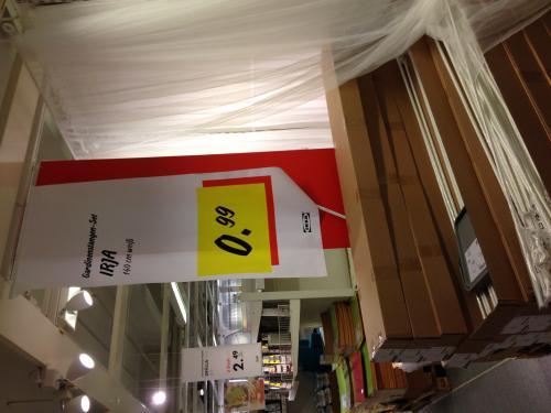 [evtl. Lokal?] Schwedische Gardinen für 0.99€ bei Ikea Kaarst