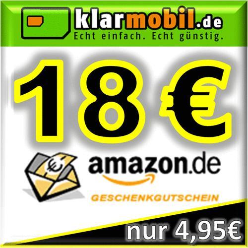 klarmobil SIM-Karte mit 15€ Guthaben + 18,00€ AMAZON Gutschein kostenlos / gratis