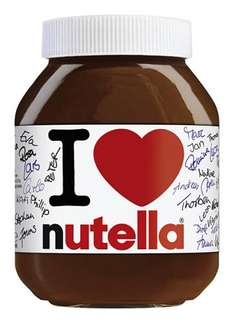 [REAL BUNDESWEIT] - I LOVE NUTELLA 1000g Glas = 3,99€