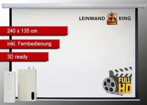 Motorleinwand 240 x 180 cm für Videobeamer mit Fernbedinung für nur 119,95 EUR