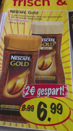 Nescafe Gold wieder mal für 6,99€ anstatt 8,99€ (eventuell bundesweit)