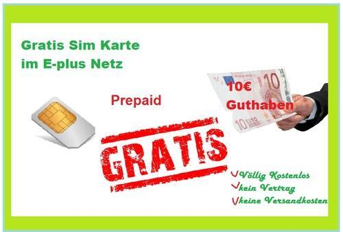 2x E-Plus Prepaid Karte inkl. 10€ Guthaben