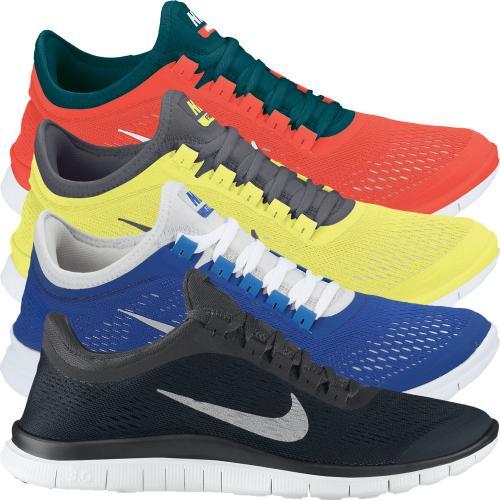 Nike Free 3.0 V5 SS13 Laufschuhe - brandneue 2013er Version - noch in allen Farben (schwarz, blau, gelb, rot) und Größen vorrätig für 75,23€ und ggfs. 4% qipu Cashback (-> 72,22€!)