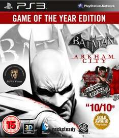 PS3/Xbox 360 - Batman Arkham City (Game of the Year Edition) für €15,32 [@Zavvi.com]