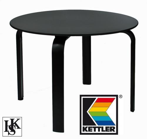 [eBay] Kettler Gartentisch Lofttisch Rundtisch Tisch 100 cm rund in schwarz zum ½ Preis