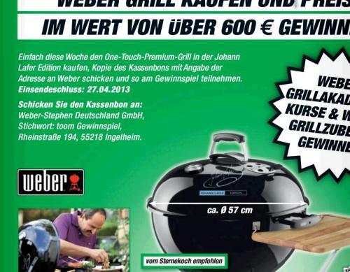 Weber One Touch Premium 57cm J. Lafer Edition für 175,-