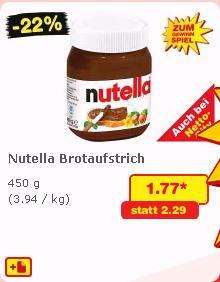 Nutella 450g [NETTO - bundesweit] für 1,77 Euro