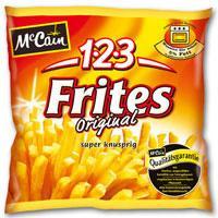 19 (!) Tüten McCain 1-2-3 Frites Deluxe oder Original für effektiv 9,58€ (also ca. 0,50€ je Tüte)