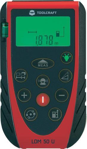 Toolcraft Laser-Entfernungsmesser LDM 50 U für 60,75 € [@voelkner]