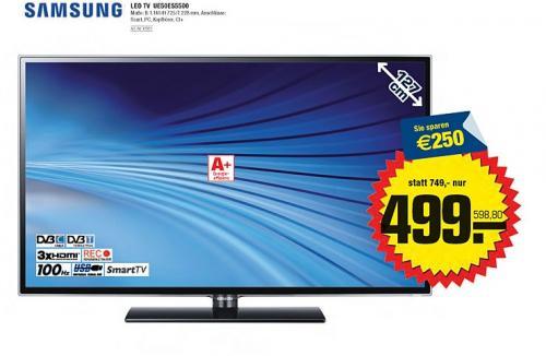 Samsung UE50ES5500, LED-TV 3x HDMI, DVB-T/C, 2x USB, LAN um 598,8€ @ Metro Österreich