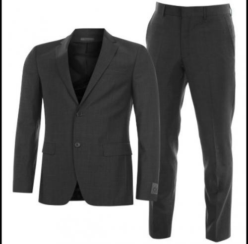 Calvin Klein Slim Fit Anzug (nur Größe 46, 100% Wolle, Farbe anthrazit)