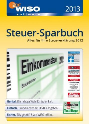 WISO Steuer-Sparbuch 2013 PC, DVD-Box für 21,21 Euro (-11% zu idealo)