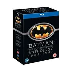 Blu-Ray Box - Batman: The Motion Picture Anthology 1989 - 1997 (4 Discs) für €12,61 [@Play.com]