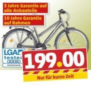 Alu-Trekking-Bike in Herren- und Damenversion bei Penny am 11.04.2013 für 199€