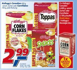 Kelloggs Produkte bei real (bundesweit - danke zappelche) 2,99 €