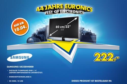 Morgen (10.04.) Samsung UE32EH4000 für 222€ bei Euronics