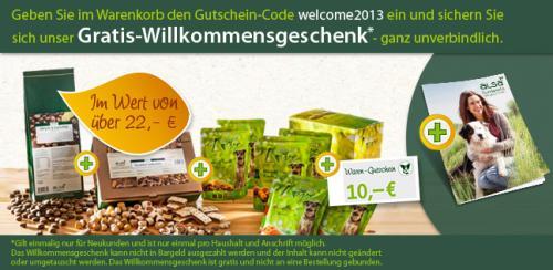 Gratis-Hundefutter im Wert von über 22 Euro (Willkommensgeschenk für alsa-hundewelt Neukunden