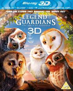 Blu-Ray - Die Legende der Wächter (Legend of the Guardians) 3D (3 Discs) für €12,60 [@TheHut.com]