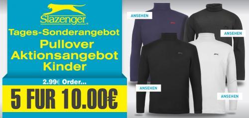 5 x Slazenger Lang Arm Rollkragen  Shirt für Kinder
